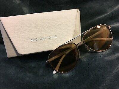 Authentic Michael Kors MK 5007 Hvar 1080R1 Rose Gold/White Aviator Sunglasses