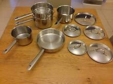 Baccarat set of 4 pot pans with a steamer Beecroft Hornsby Area Preview