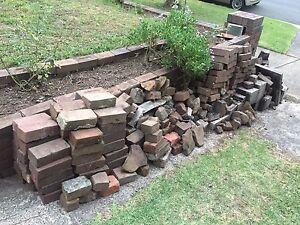 Bricks, besser blocks, garden waste burning chimney, bush rocks West Ryde Ryde Area Preview