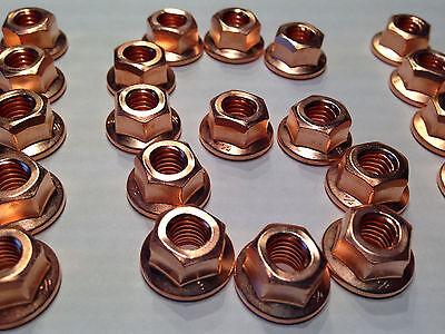 Kupfermutter M6  SW10  für Krümmer, Turbo, Auspuff, Ansaugkrümmer  > 30  Stück