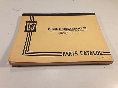 1954 Letourneau Model C Tournatractor Parts Catalog Pc-390