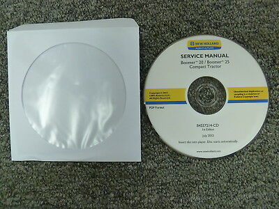 New Holland Boomer 20 25 Compact Tractor Shop Service Repair Manual Cd