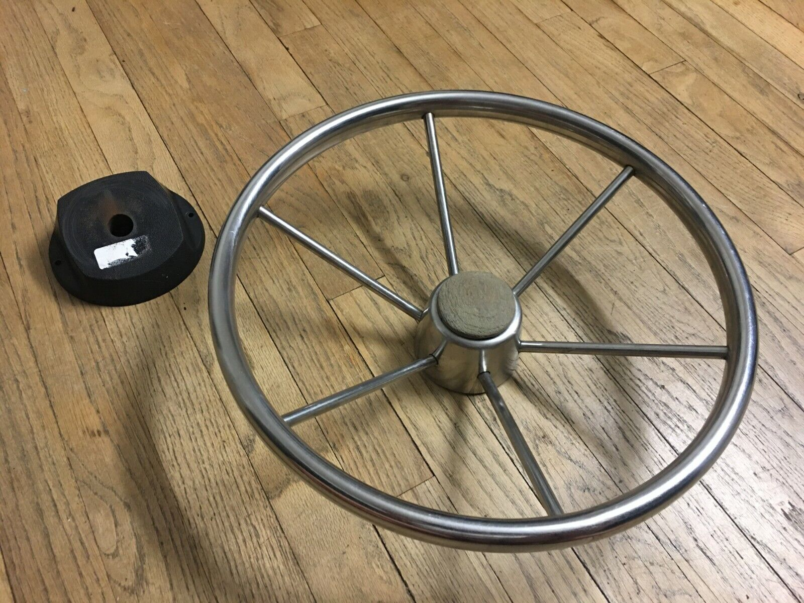 Marine Boat Stainless Destroyer Style Steering Wheel (ATTWOOD)