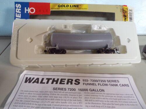 WALTHERS 932-7200, 16000 GAL. FUNNEL FLO TANKCAR, UNDEC KIT, NIOB