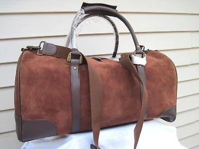 vintage 21 large leather duffle gear bag