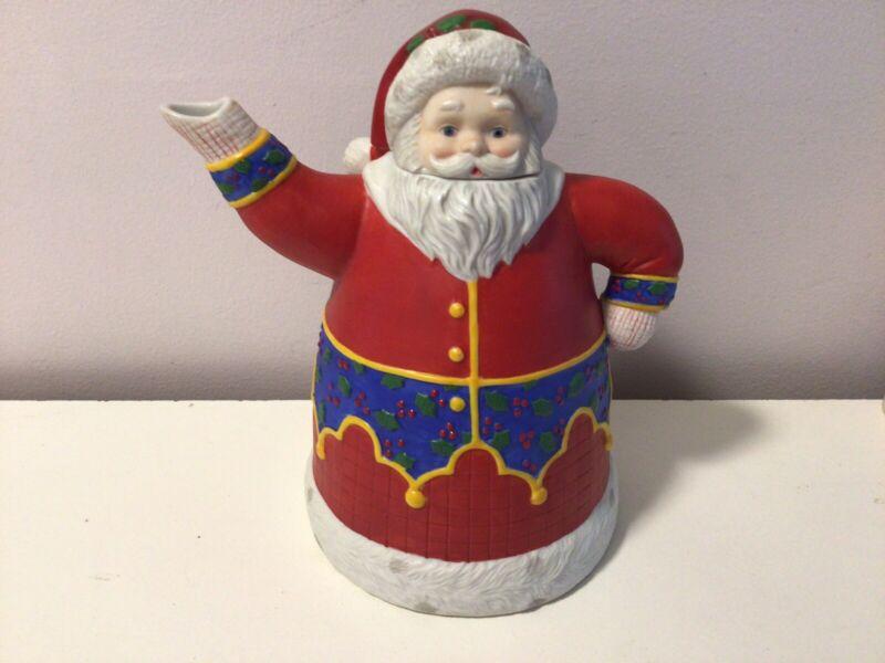 Vintage Hallmark 1992 Mary Engelbreit The Wonder of Christmas Santa Claus Teapot