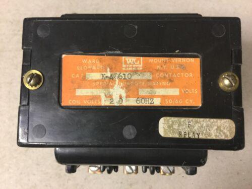 Ward Leonard K-48610 Contactor with 240 Volt Coil