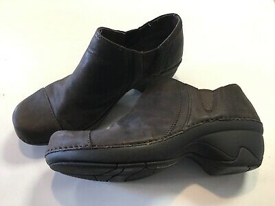 EUC Patagonia Llama Better Clog Brown Leather Shoes Size US 7.5 eur