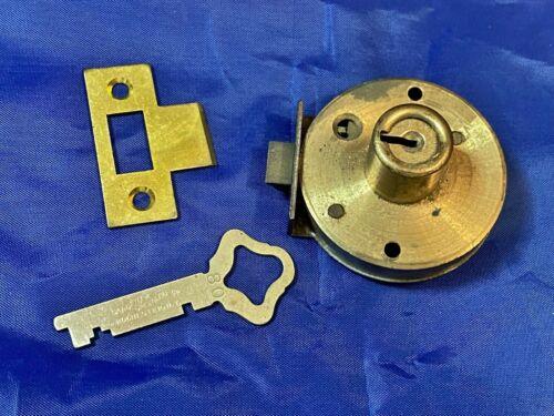 Vintage Sargent Cabinet or Drawer Latch-Bolt Lock with Key & Strike Plate