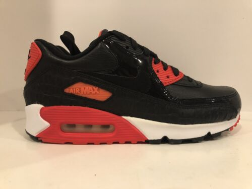 size 40 28d19 df6b3 Men s Nike Air Max 90 Anniversary Leather Black Croc Infrared 725235-006  Size 9 фото
