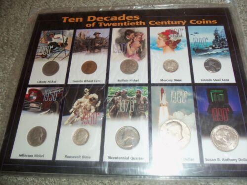 Ten decades of 20th Century coins