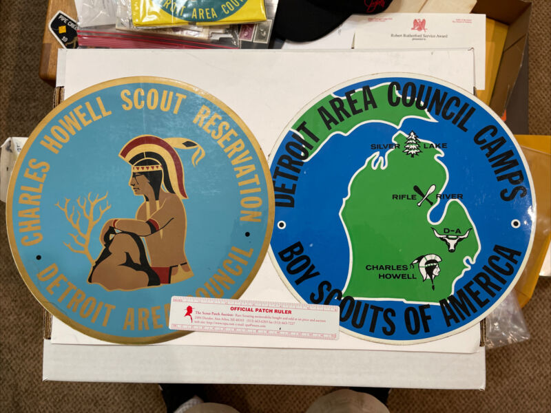 BSA Detroit Area Council 2 VERY LARGE Camp stickers DAC - 50
