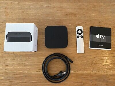 Apple TV (3rd Generation) A1469 HD Media Player - Black, Perfect Condition..