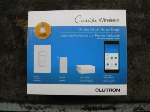 *NEW* Lutron Caseta Wireless Smart Lighting Dimmer Switch Kit (P-BDG-PKG1W)