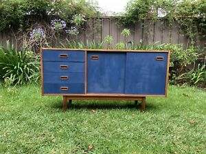 Chalk painted retro rustic vintage sideboard drawers dresser