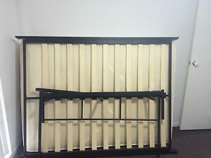 Black tubular double bed Muswellbrook Muswellbrook Area Preview