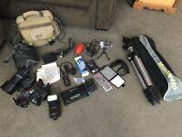 Full camera and photographer setup