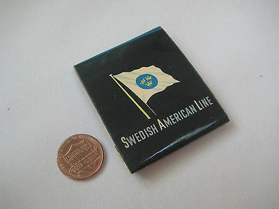 vintage 1950's Swedish American Line cruise ship MATCHBOOK retro flag Sweden old