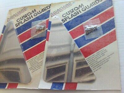Vintage 4 Stainless Steel American Racing Equip. Splash Guards 8 1/2