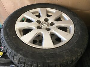 4-MICHELIN 215/60R16 WINTER TIRES ON ORIGINAL 2009 CAMRY RIMS