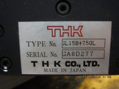 Gl15b750l Thk Thk Linear Slide Actuator Timing Belt Drive Used