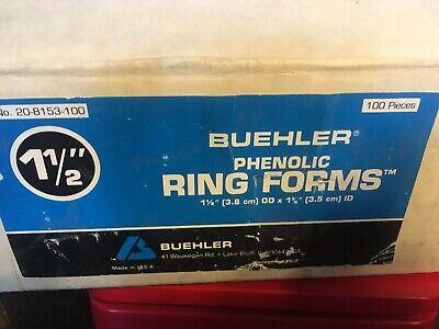Buehler Phenolic 1 12 Ring Forms Pn 20-8153-100 Box Of 100