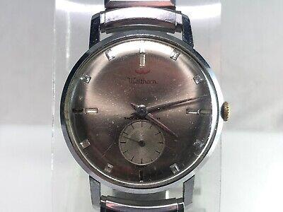 Vintage Waltham Stainless Steel Manual Wind Wrist Watch 34 mm