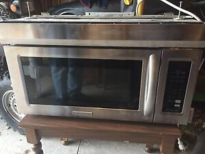 Built in microwave  kitchen aide stainless steel