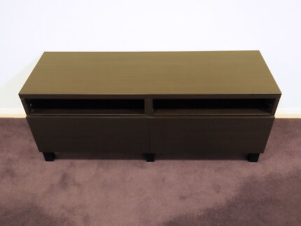 IKEA BESTA TV STAND CABINET WITH 2 DRAWERS IN BLACK BROWN St Leonards Willoughby Area Preview