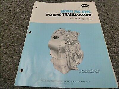 Twin Disc Mg-514c Marine Transmission Assembly Dimensional Specifications Manual