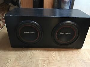 "2 10"" subs and box"