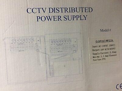 CCTV Distributed Power Supply Input-AC 110V Output-24V AC/9 Amp-2.5