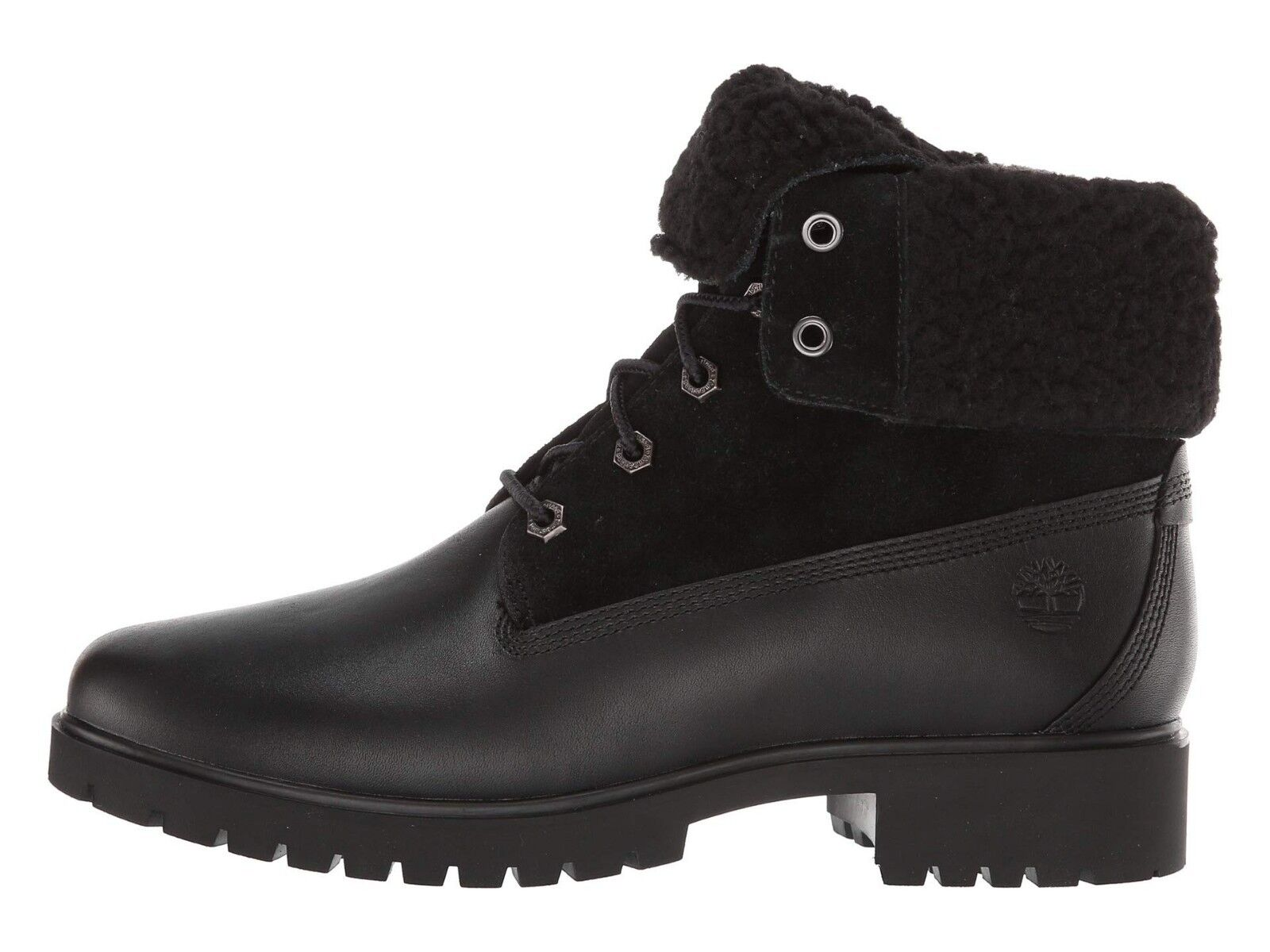 Women's Shoes Timberland JAYNE TEDDY FLEECE Fold-Down WP Boots A1SGK BLACK 1