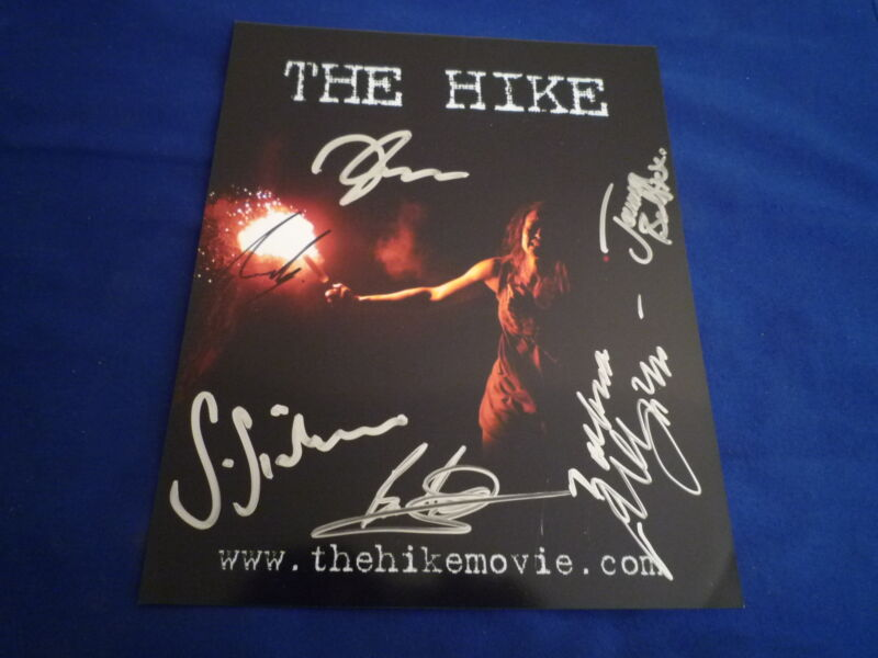 THE HIKE Cast signed autograph 8x10 20x25 cm In Person TAMER HASSAN , JEMMA BOLT