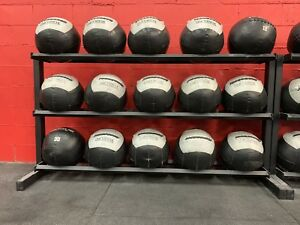 Gym medicine ball storage racks
