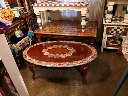 Half Clearance Oval Coffee Table