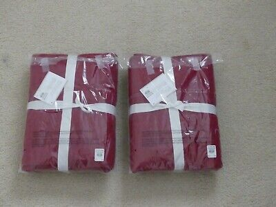 Pottery Barn Pick Stitch Quilted Euro Pillow Shams Cardinal Red Set of 2