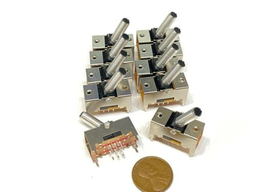 10 x slide switch toggle TS-22E01AT15 6 pin toggle dpdt 15mm on-on metal PCB G3