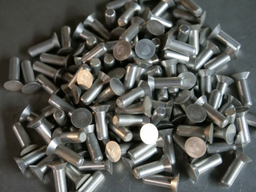 Solid Aluminum Rivet 1/4 Dia x 5/8 Length Countersunk Head 20ea