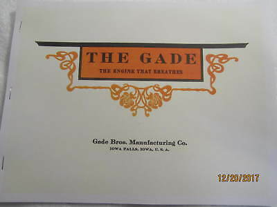 1910 Gade Brothers Gas Engine Catalog All Sizes Hit Miss Grinders Pumps