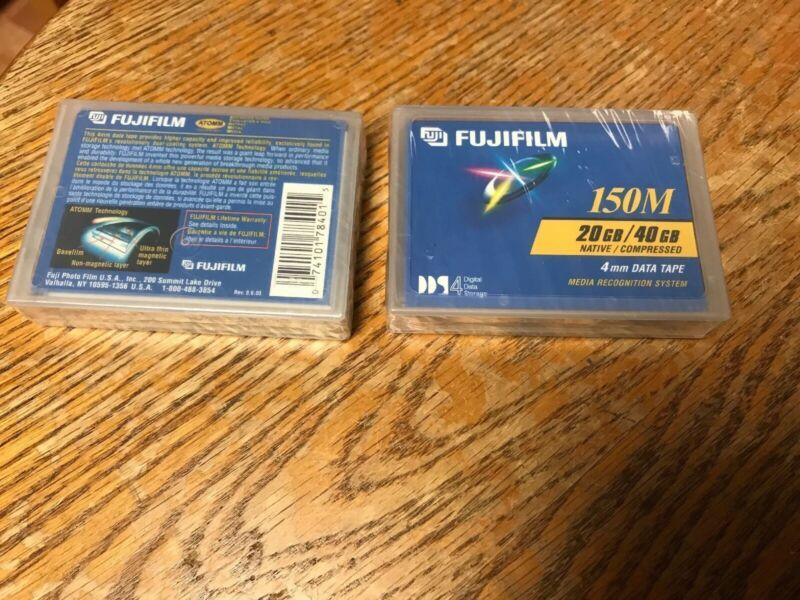 Lot of 4 SEALED Fujifilm DDS4 4mm 20GB/40GB 150M Data Tape Cartridges