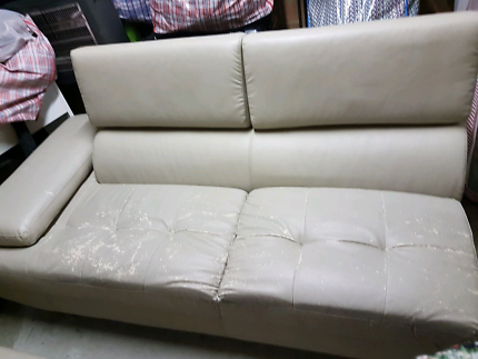 Leather sofa set and dining set