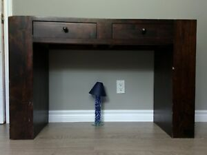Dark brown accent table