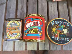 3 tins - not old - Arnotts x2 and Bassetts Melba Belconnen Area Preview