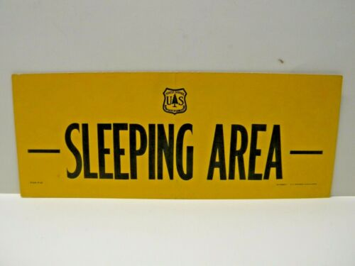 Old Forest Service Sign SLEEPING AREA