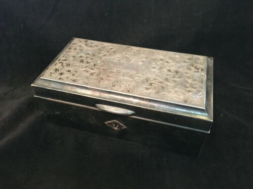 Antique Sterling Silver and wood Jewelry Box. 703.0 g.
