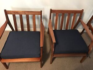 2 mid Century Rosewood chairs not teak