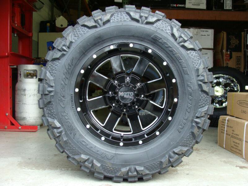 "18"" Moto Metal 962 Black 33x12.50r18 Nitto Mud Grappler Tires 33"" 18x10 33"""