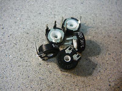 Piher Trimmer Resistor Through-hole 10k Ohm 10mm Round Top Adj New Qty.5