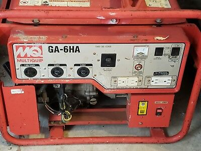 2011 Mq Multiquip Ga6ha Portable Skid Mounted Generator 125250v 79 Dba